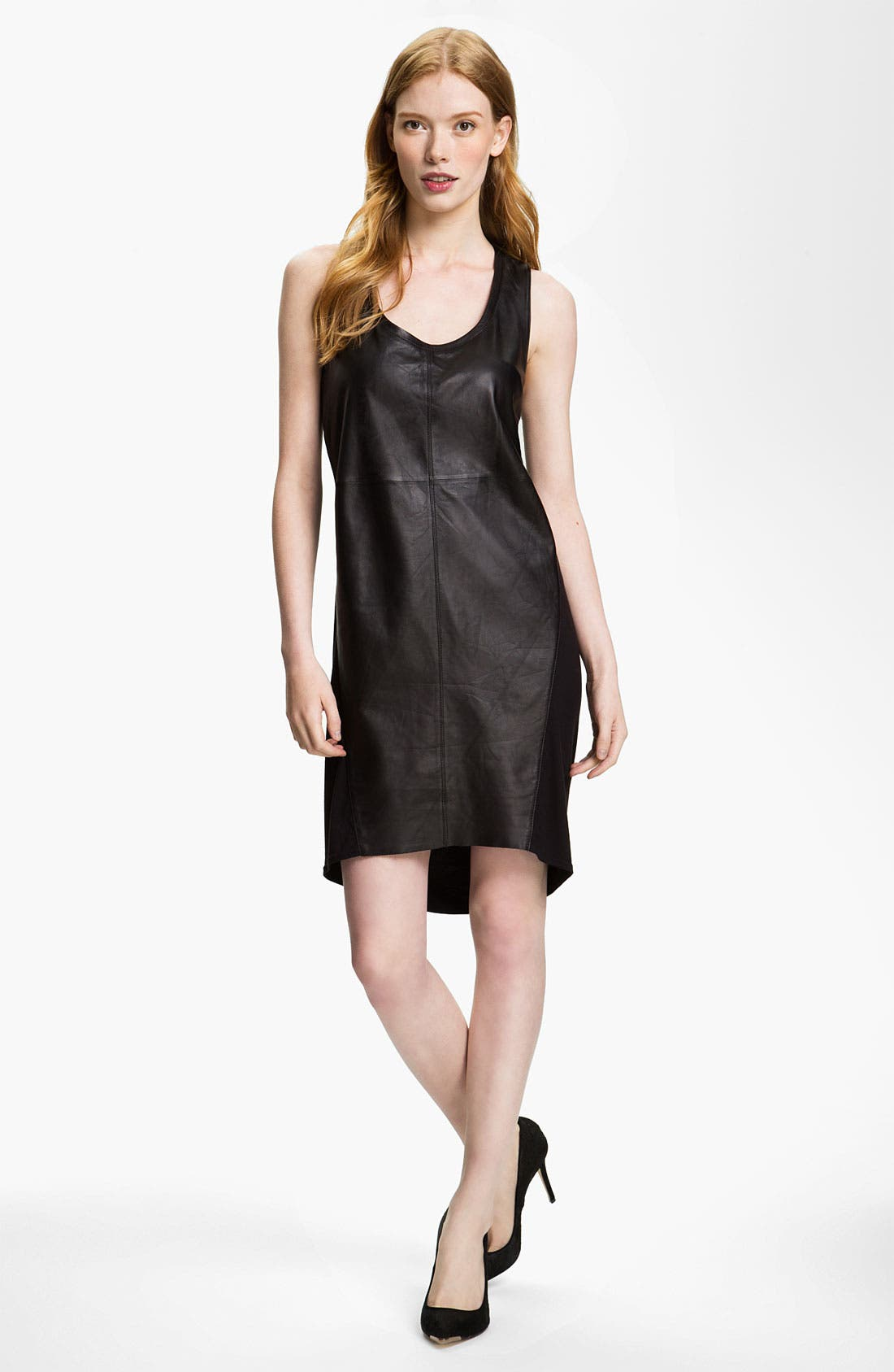 Alternate Image 1 Selected - Trouvé Leather & Knit Dress
