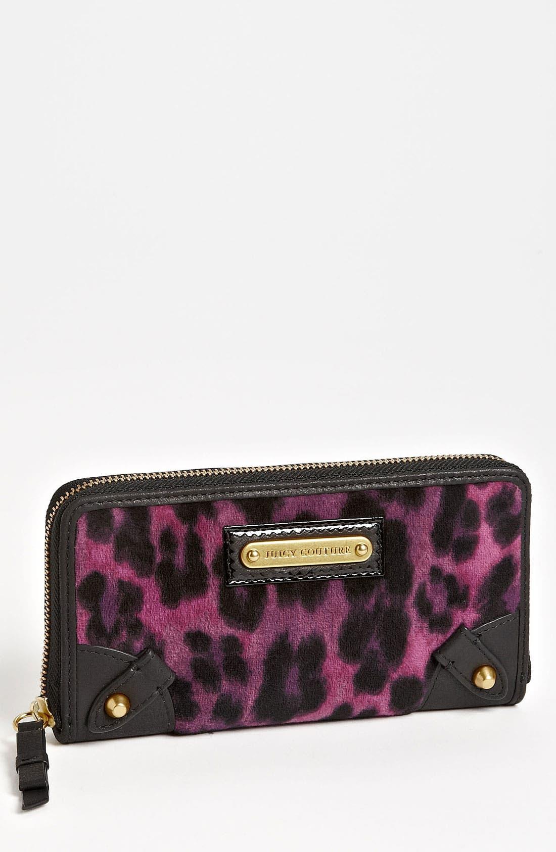 Main Image - Juicy Couture 'Wild Things' Zip Wallet