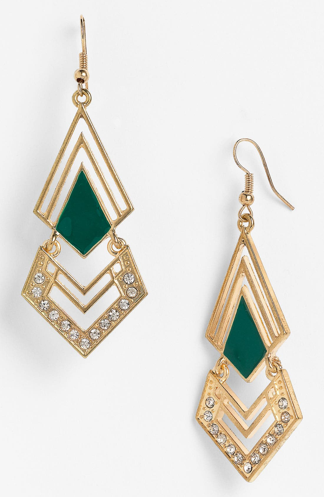 Main Image - Carole Triangle Chandelier Earrings