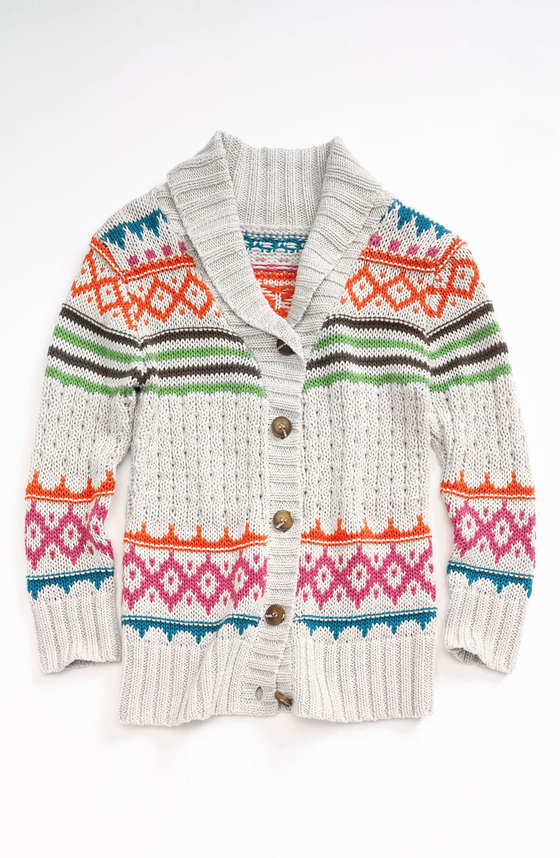 Main Image - Peek 'Aztec' Wrap Sweater (Toddler, Little Girls & Big Girls)