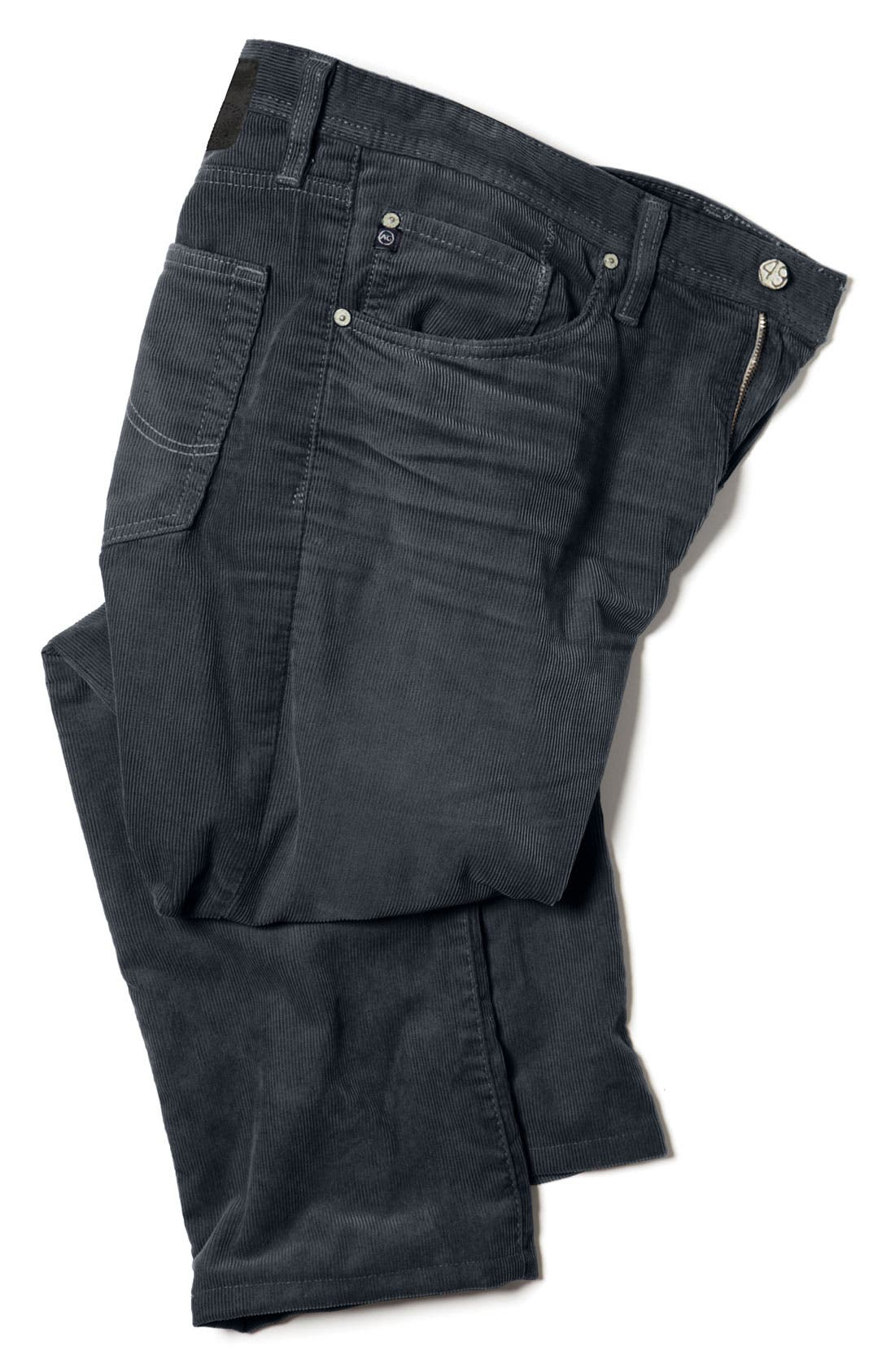 Alternate Image 5  - AG Jeans Straight Leg Corduroy Pants