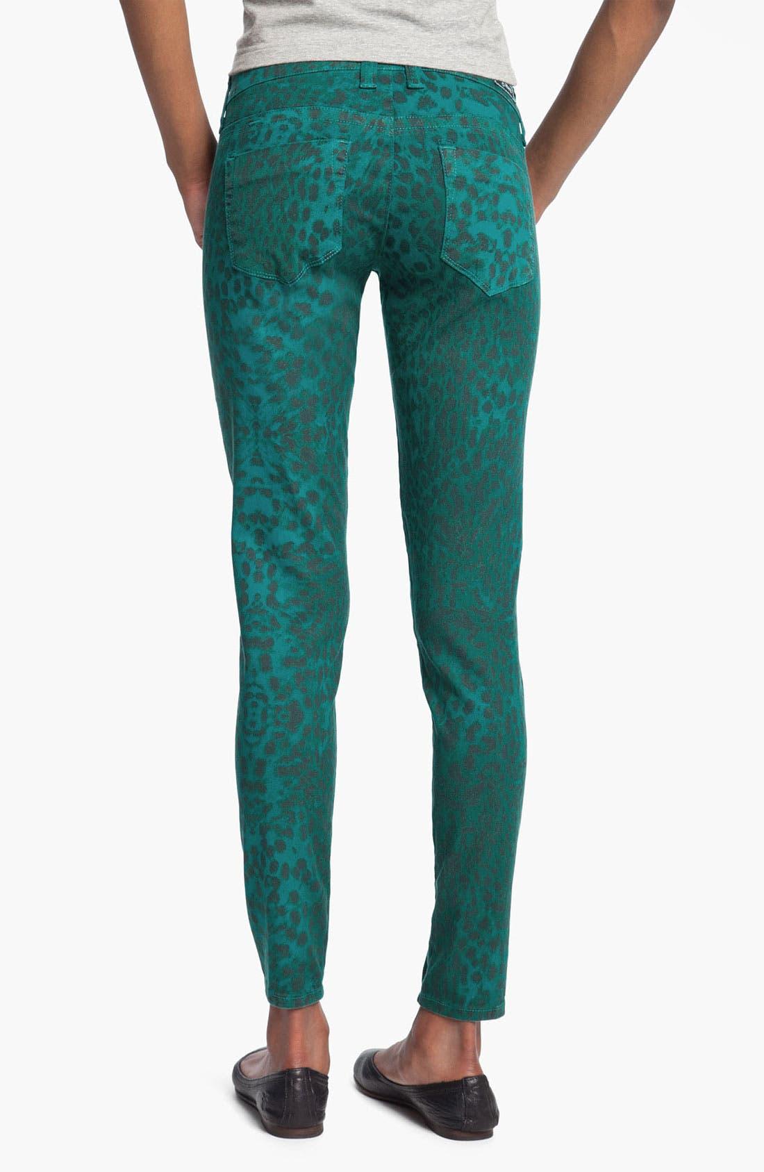 Alternate Image 2  - See Thru Soul 'Fame' Animal Print Skinny Jeans (Juniors)