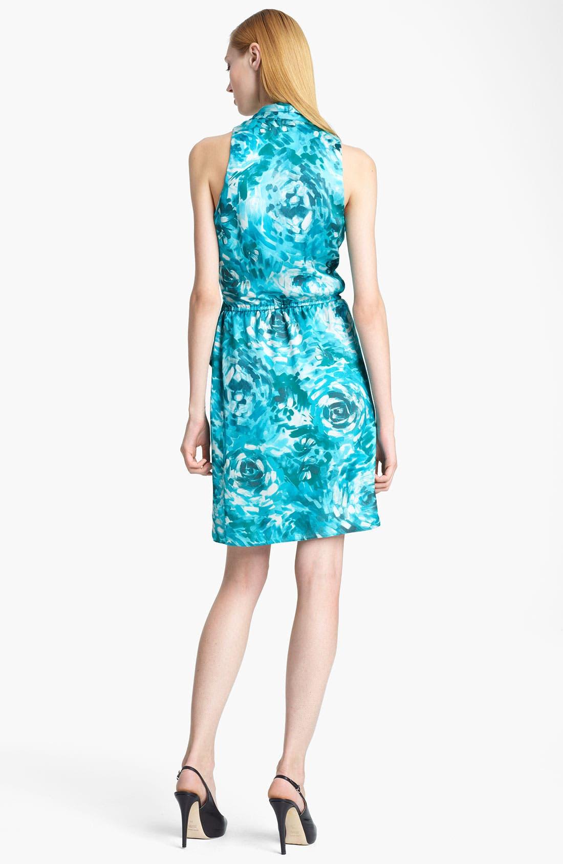 Alternate Image 2  - Armani Collezioni Floral Print Silk Dress