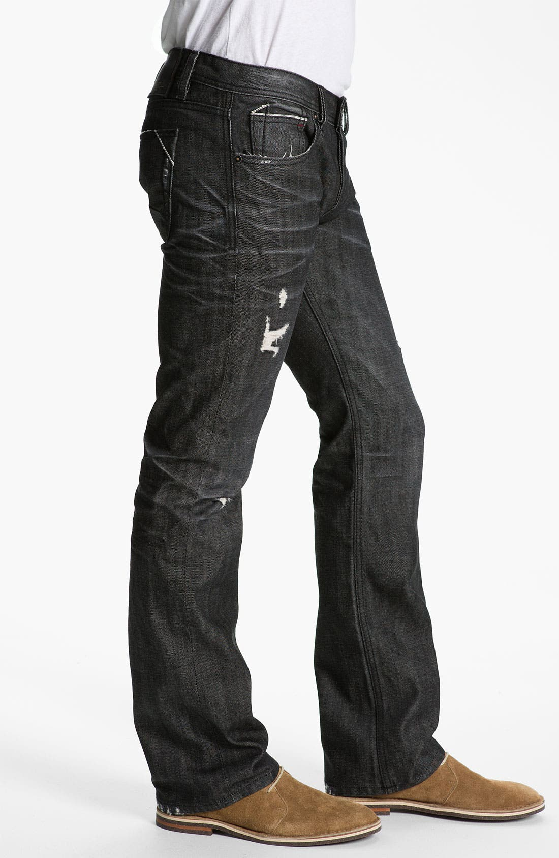 Alternate Image 3  - Cult of Individuality 'Hagen' Relaxed Straight Leg Jeans (Black)