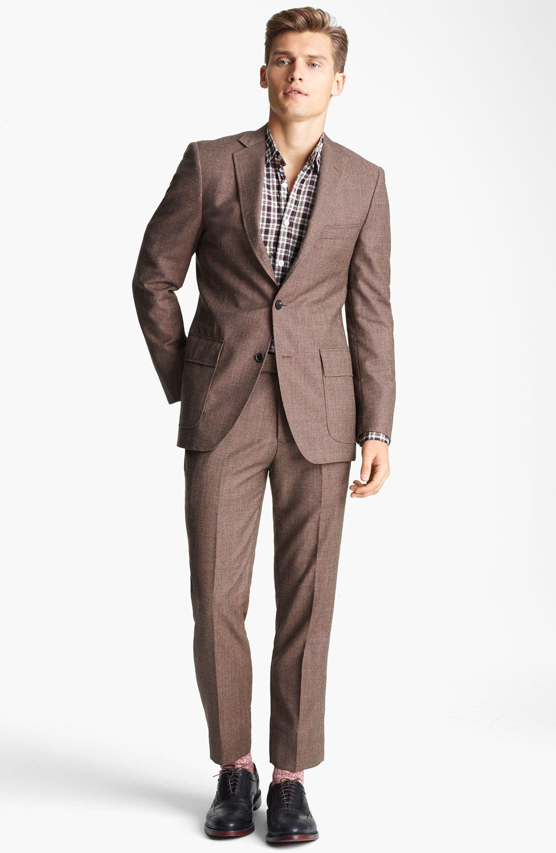 Alternate Image 2  - Billy Reid 'Campbell - Heirloom Collection' Tweed Suit