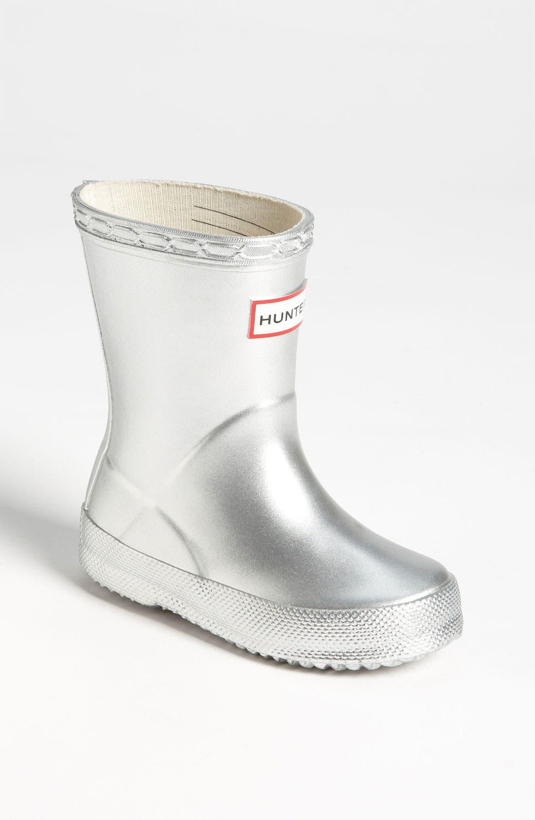Main Image - Hunter 'Kid's First Gloss' Rain Boot (Walker & Toddler)