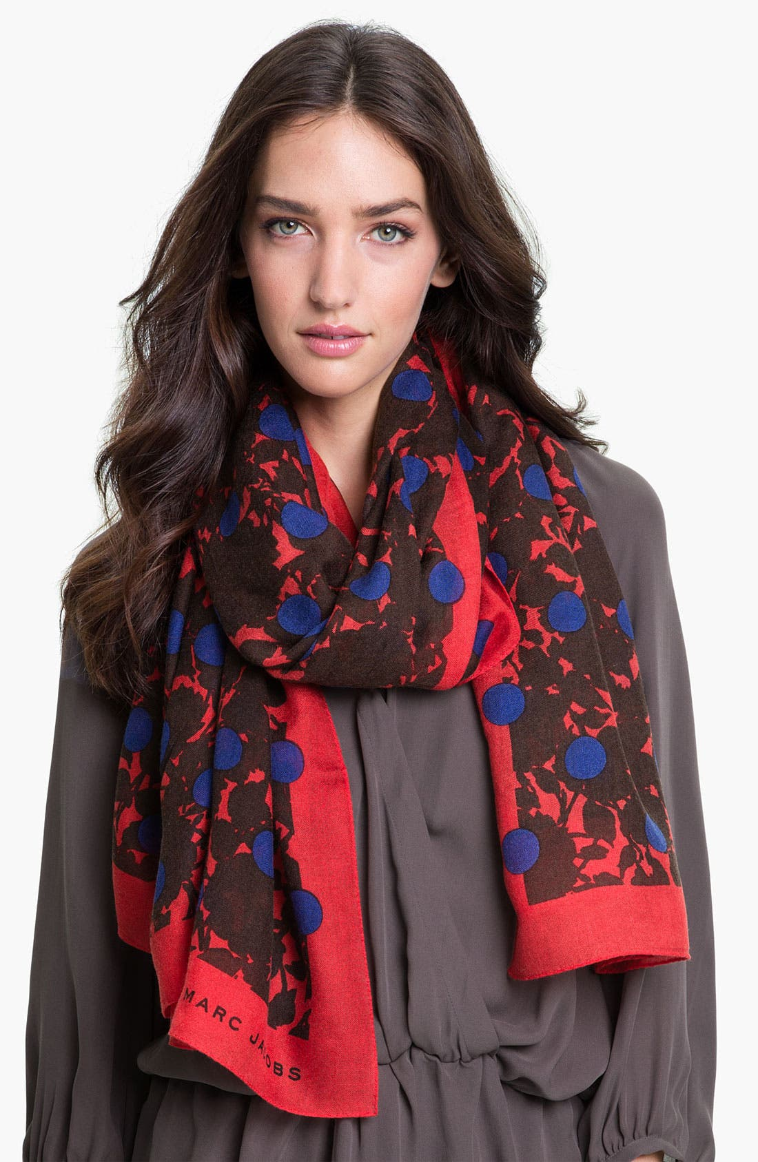 Main Image - MARC BY MARC JACOBS 'Clara Flower Dot' Cashmere & Silk Scarf