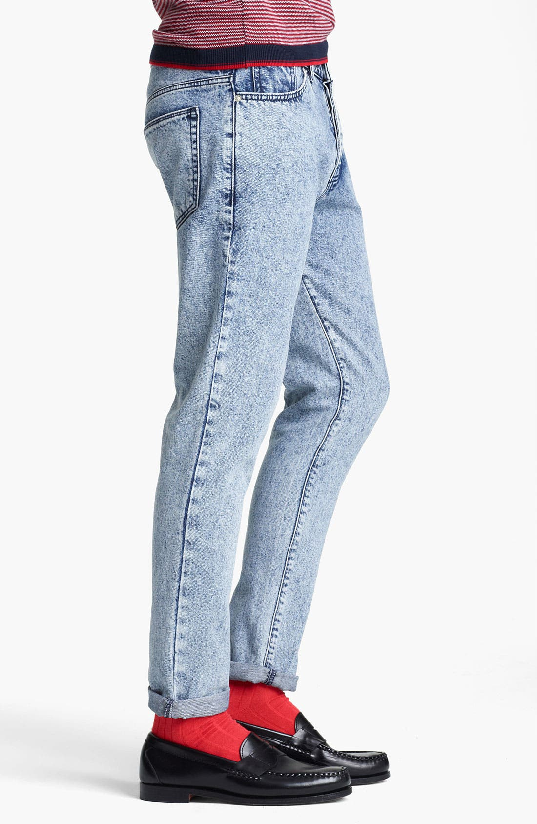 Alternate Image 3  - Topman Vintage Skinny Jeans (Light Wash)