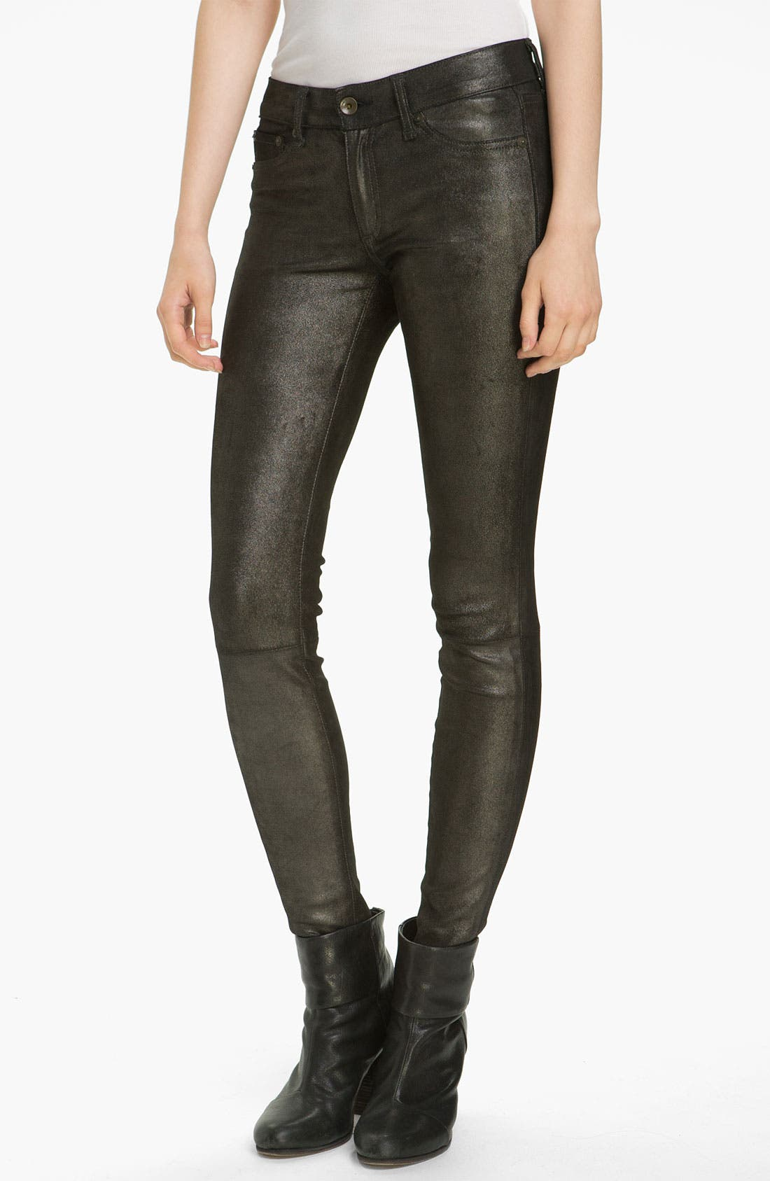 Main Image - rag & bone/JEAN Stretch Leather Leggings