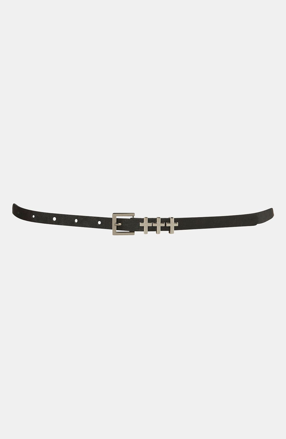 Alternate Image 1 Selected - Topshop 'Cross' Keeper Belt