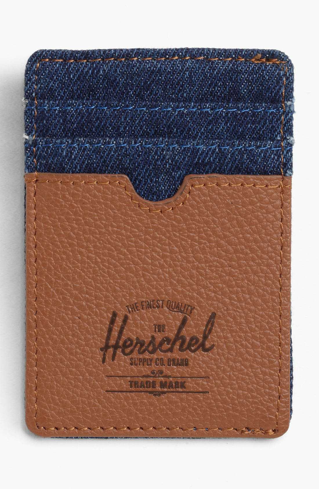 Alternate Image 1 Selected - Herschel Supply Co. 'Raven - Denim Collection' Card Case