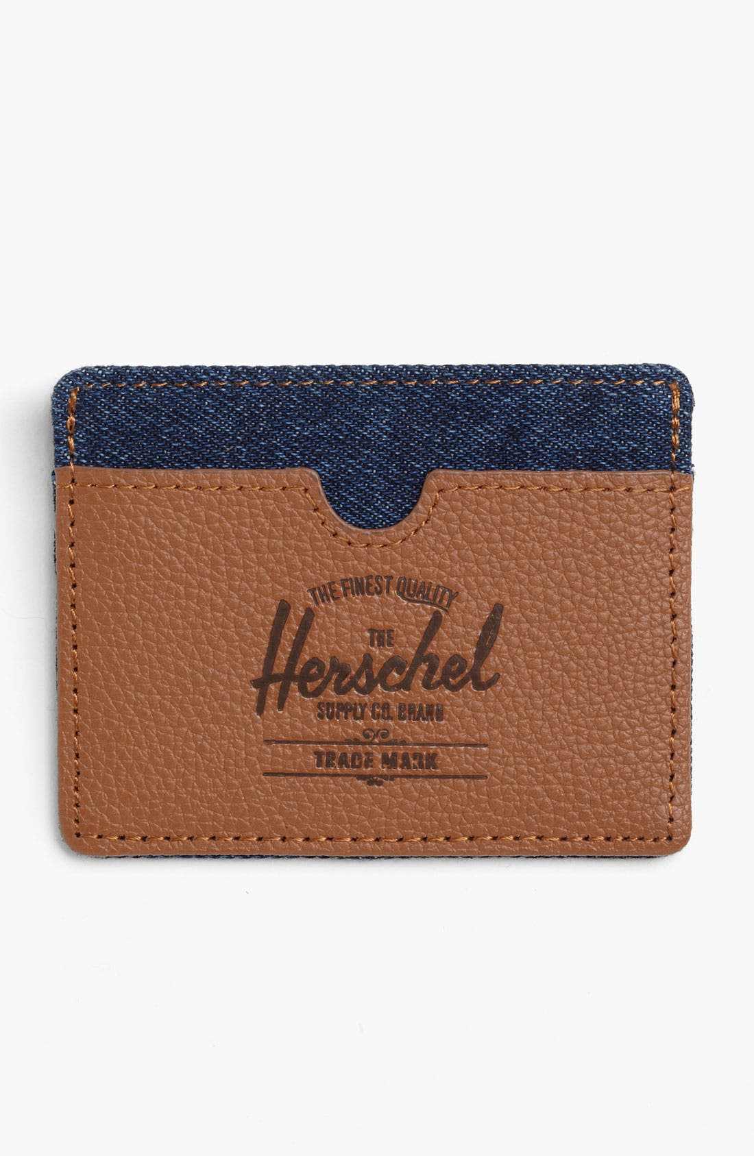 Alternate Image 1 Selected - Herschel Supply Co. 'Charlie - Denim Collection' Card Case