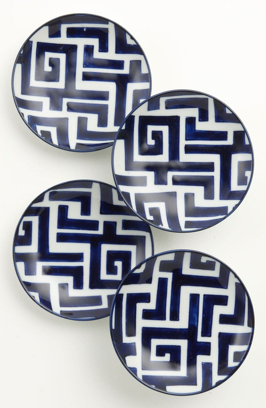 Alternate Image 1 Selected - Hand-Painted 'Moroccan' Coaster Plates (Set of 4)