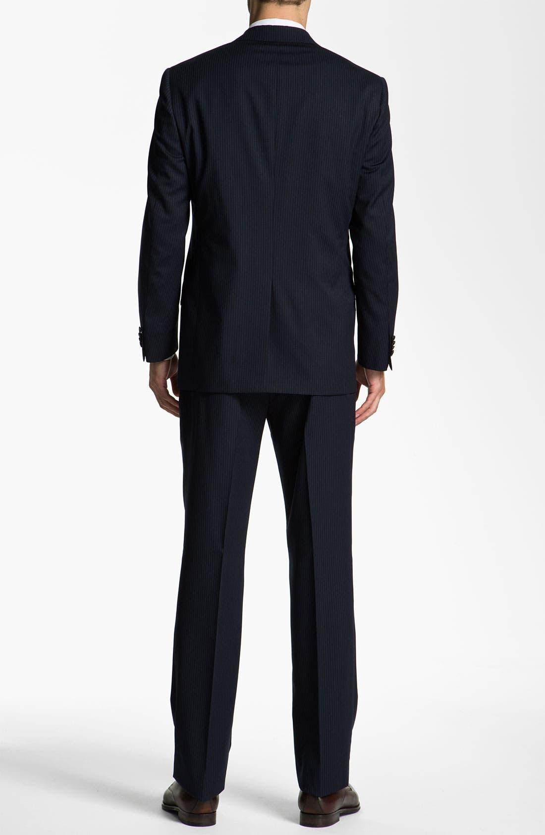 Alternate Image 3  - Hart Schaffner Marx Stripe Three Piece Wool Suit