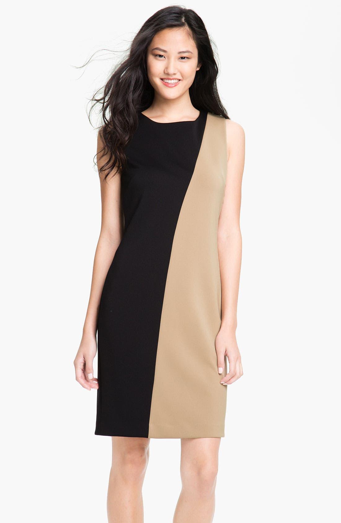 Alternate Image 1 Selected - Calvin Klein Colorblock Sheath Dress