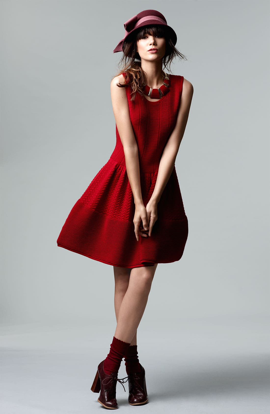 Alternate Image 4  - Cynthia Steffe 'Carly' Pointelle Wool Blend Sweater Dress