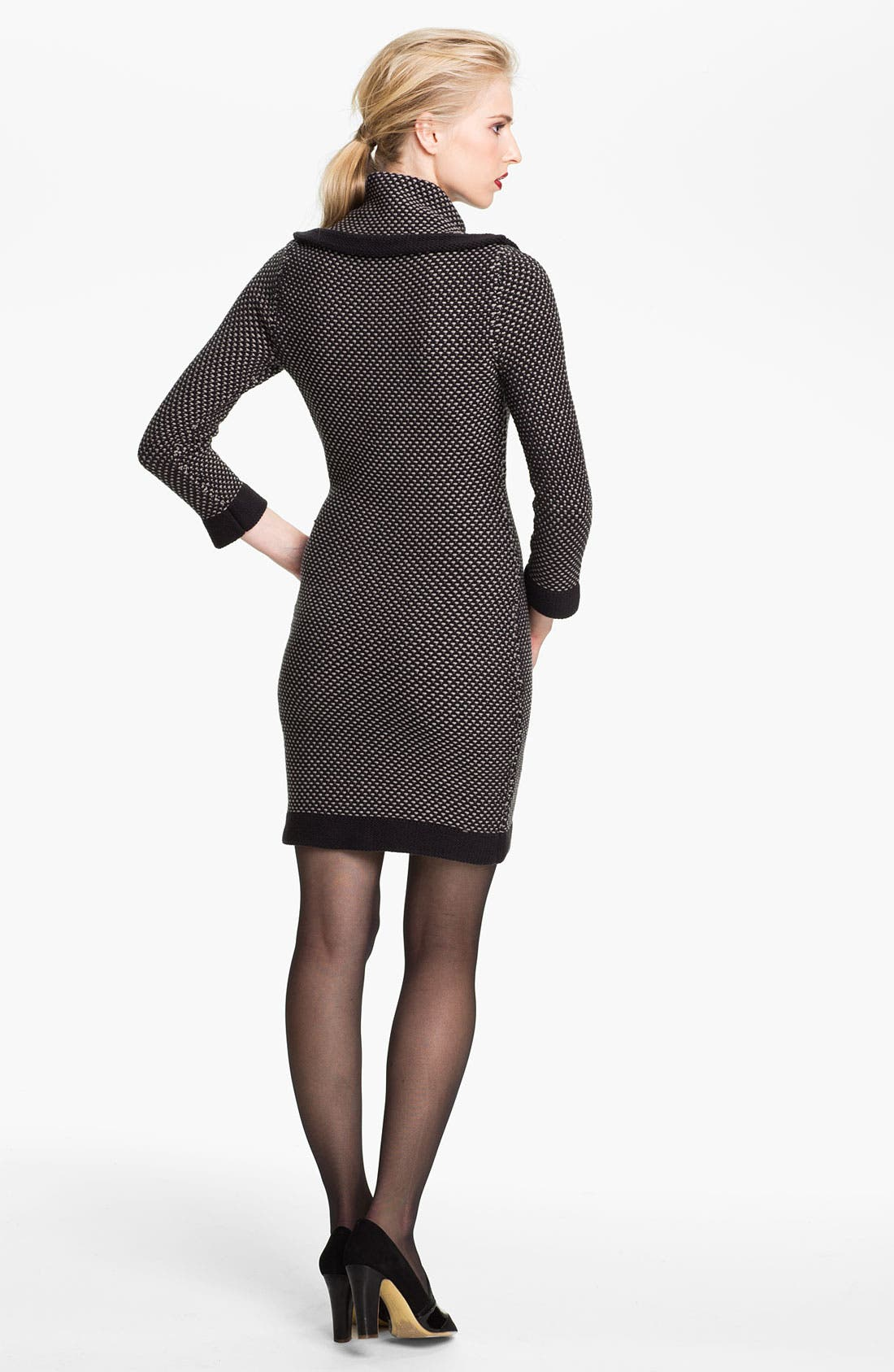 Alternate Image 2  - Tracy Reese Cowl Neck Chunky Knit Dress