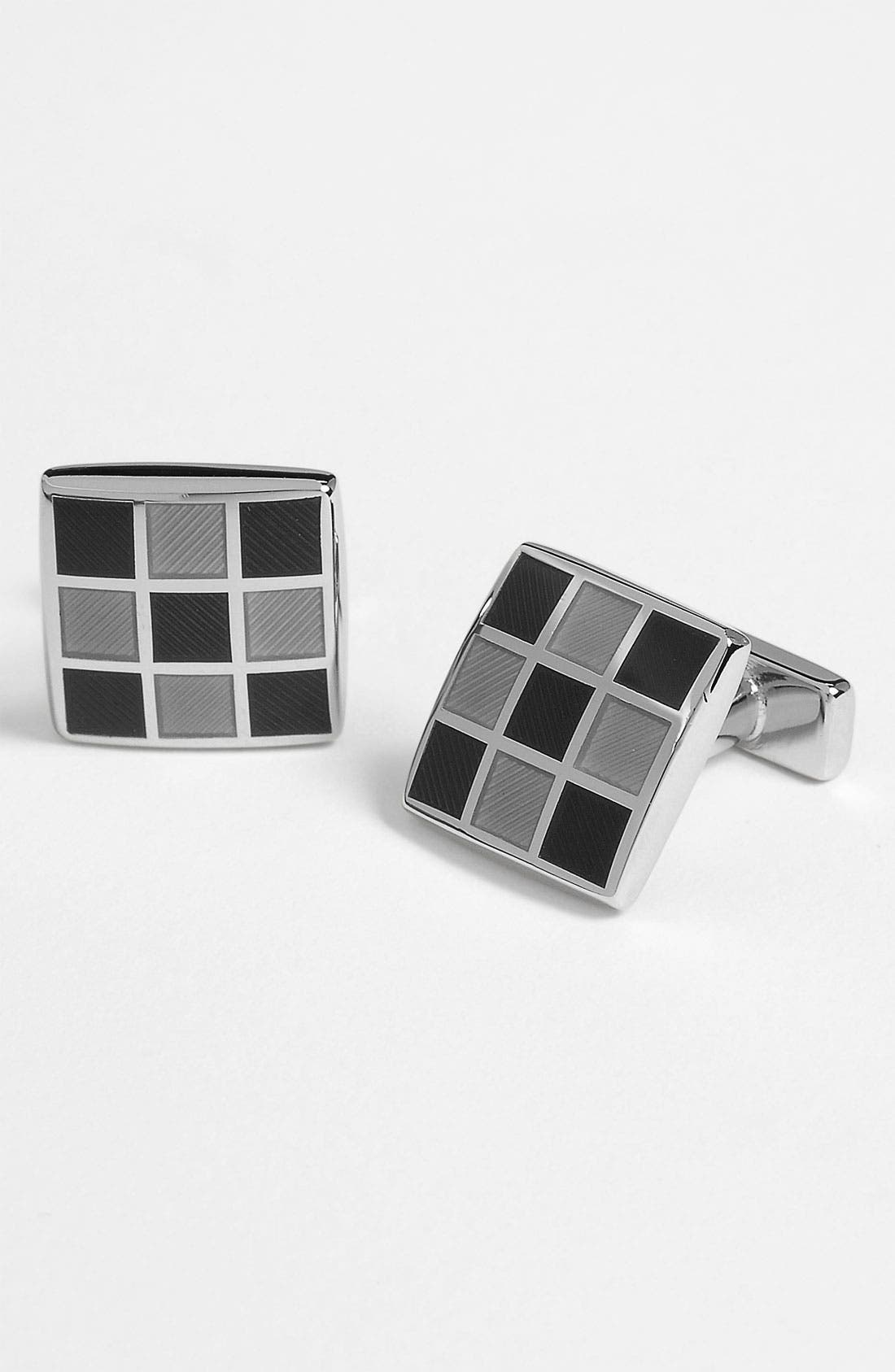 Main Image - Thomas Pink Enameled Square Cuff Links