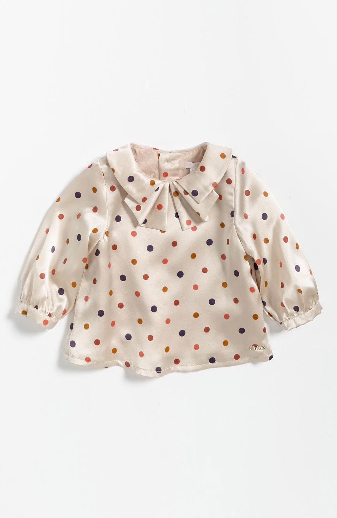 Alternate Image 1 Selected - Chloé Polka Dot Blouse (Infant)