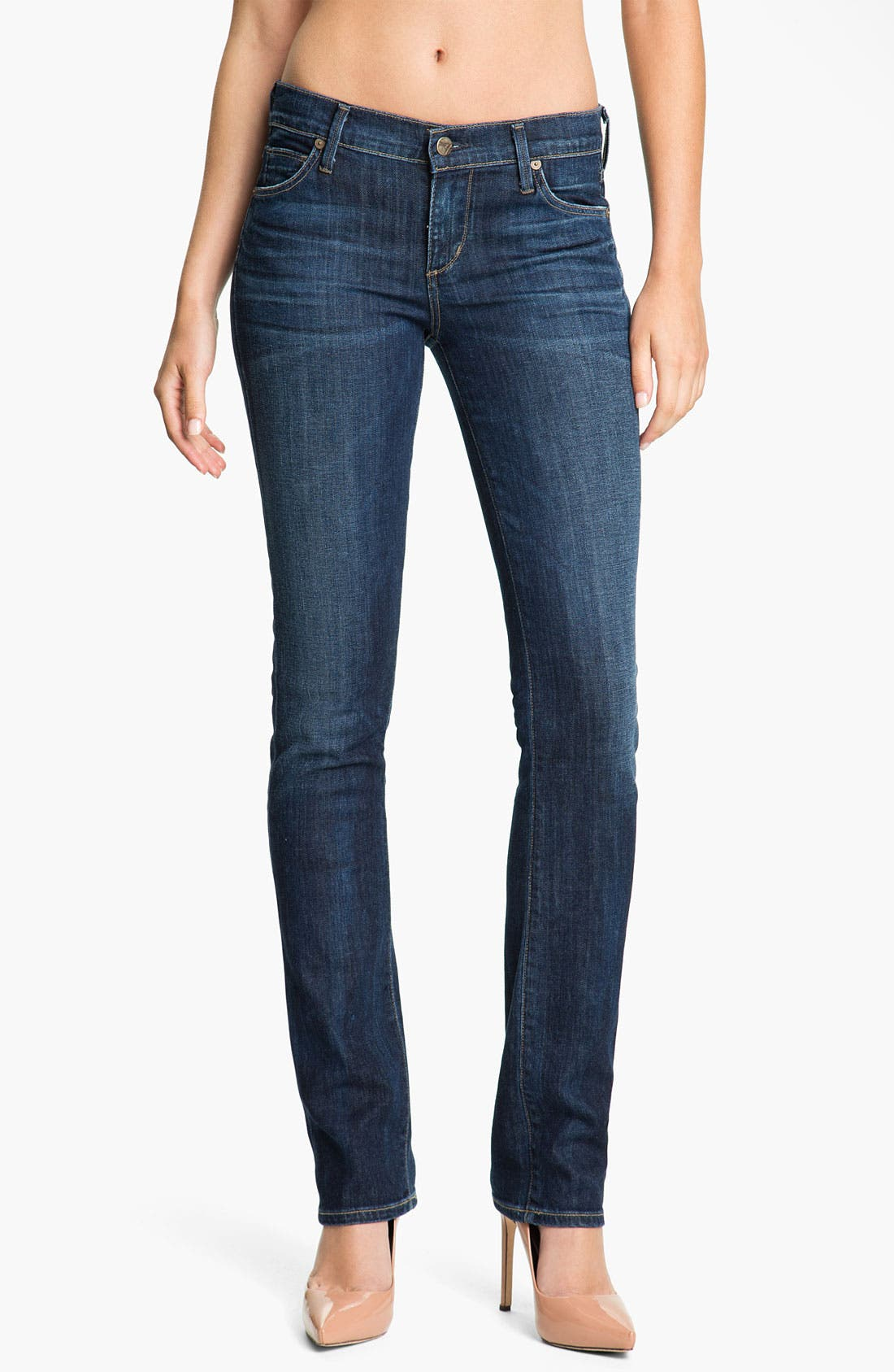Alternate Image 1 Selected - Citizens of Humanity 'Ava' Straight Leg Stretch Denim Jeans (New Spectrum)