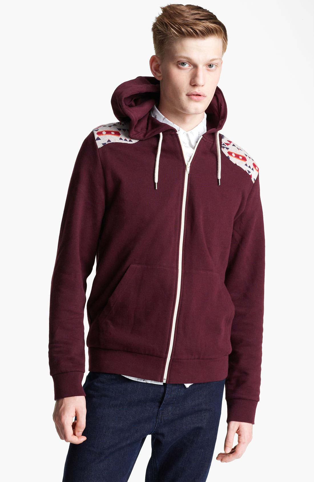 Alternate Image 1 Selected - Topman 'Fudge' Zip Hoodie
