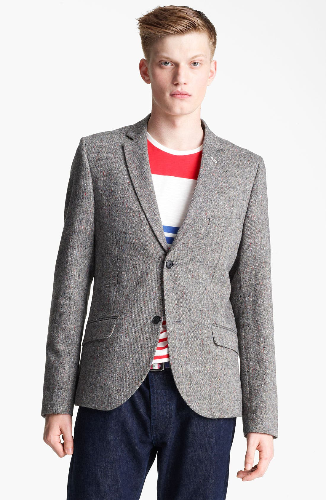 Alternate Image 1 Selected - Topman Heritage Fit Multi Fleck Blazer
