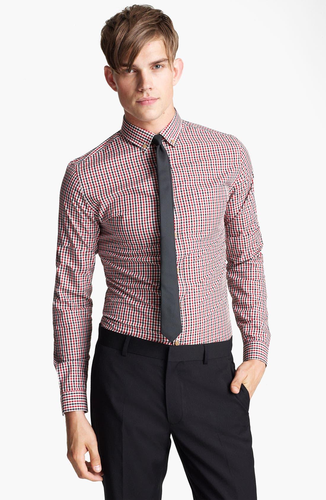 Main Image - Topman 'Smart' Check Dress Shirt