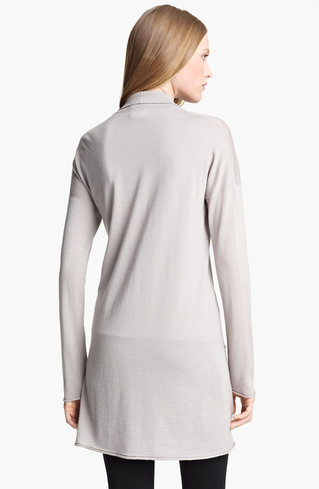 Alternate Image 2  - Armani Collezioni Wool Blend Cardigan