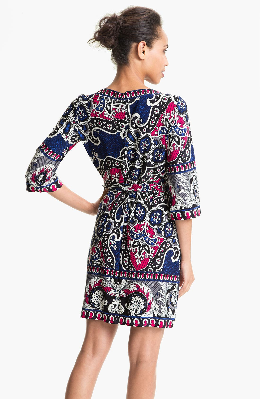 Alternate Image 2  - Donna Morgan Printed Bateau Neck Jersey Shift Dress