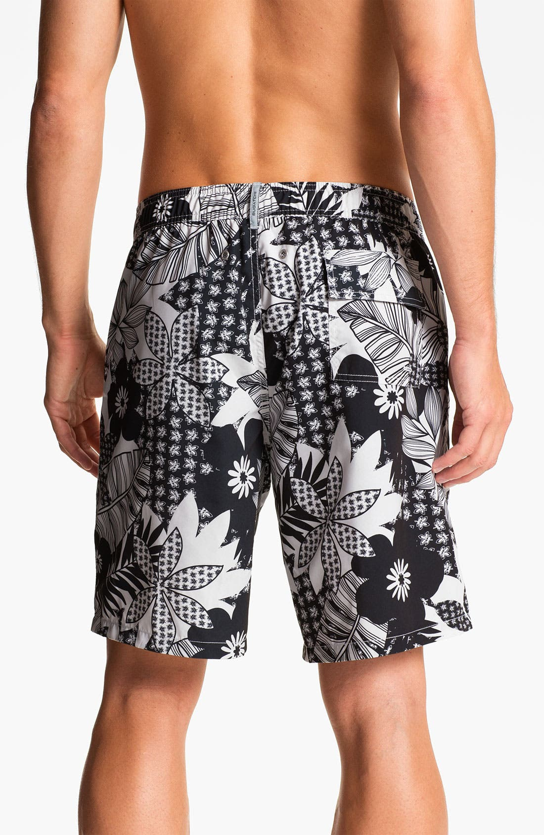 Alternate Image 2  - Bugatchi Uomo Print Board Shorts