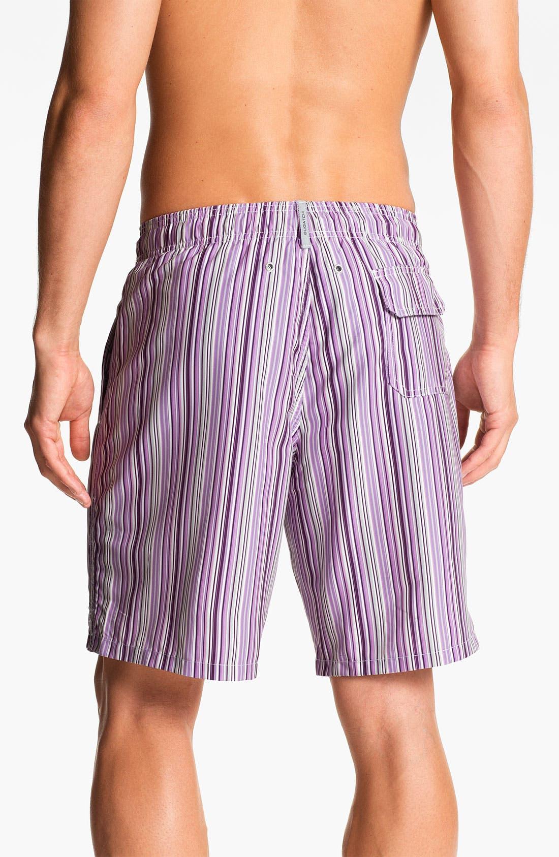 Alternate Image 2  - Bugatchi Uomo Stripe Board Shorts
