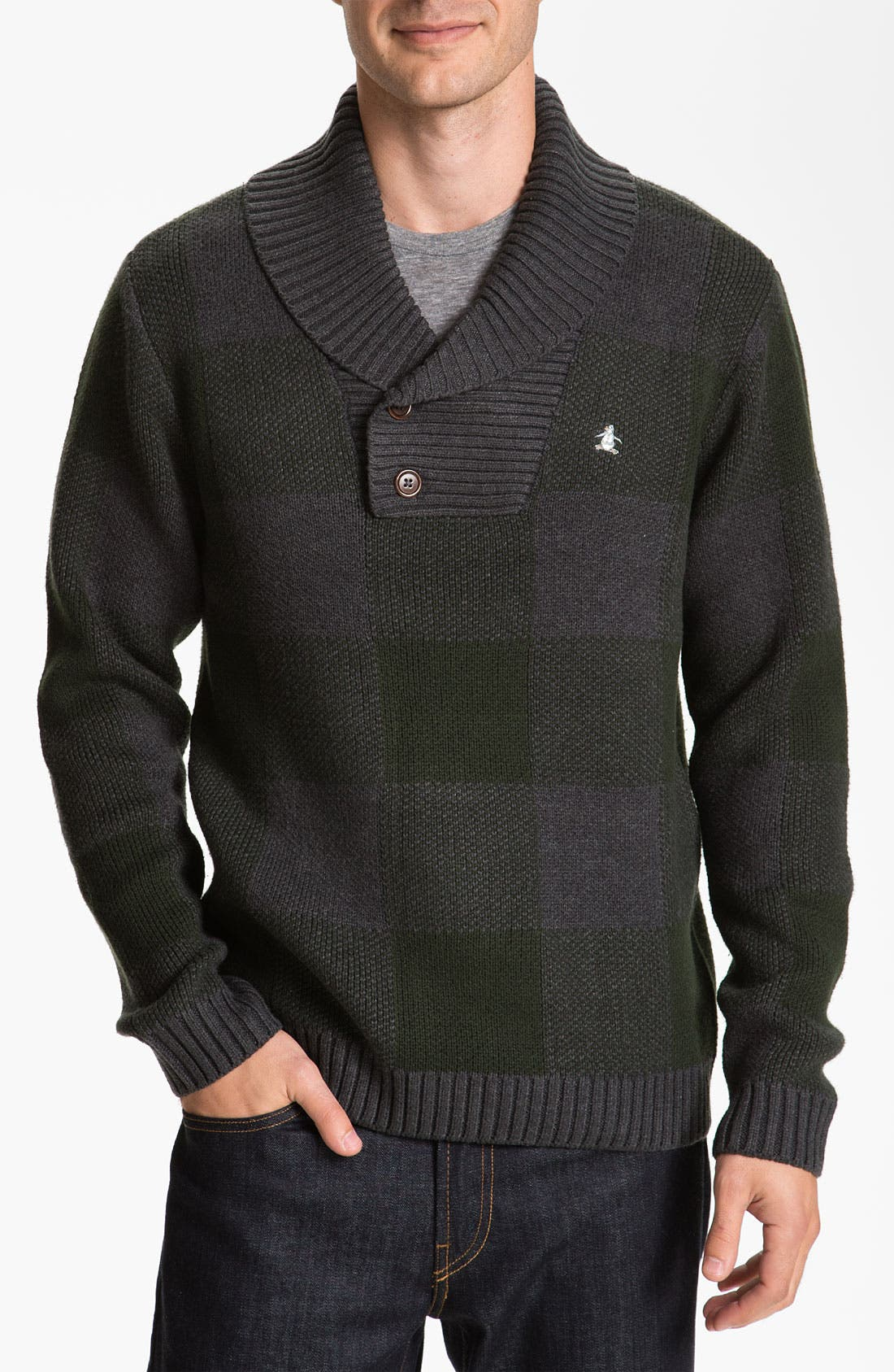 Alternate Image 1 Selected - Original Penguin Shawl Collar Sweater