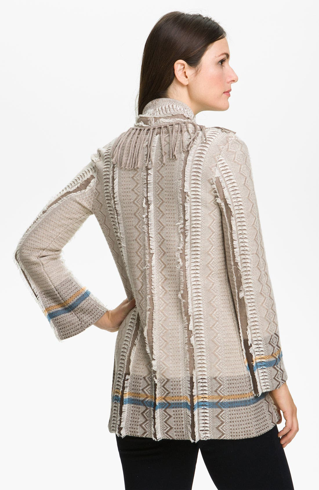 Alternate Image 2  - Nic + Zoe Fringed Shawl Collar Cardigan