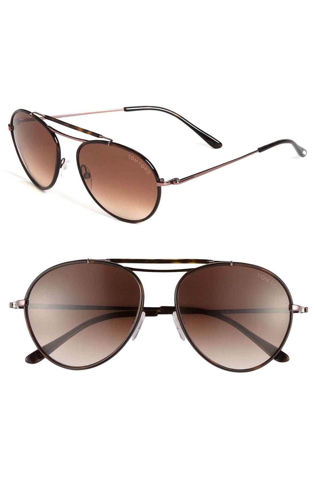 Main Image - Tom Ford Aviator Sunglasses