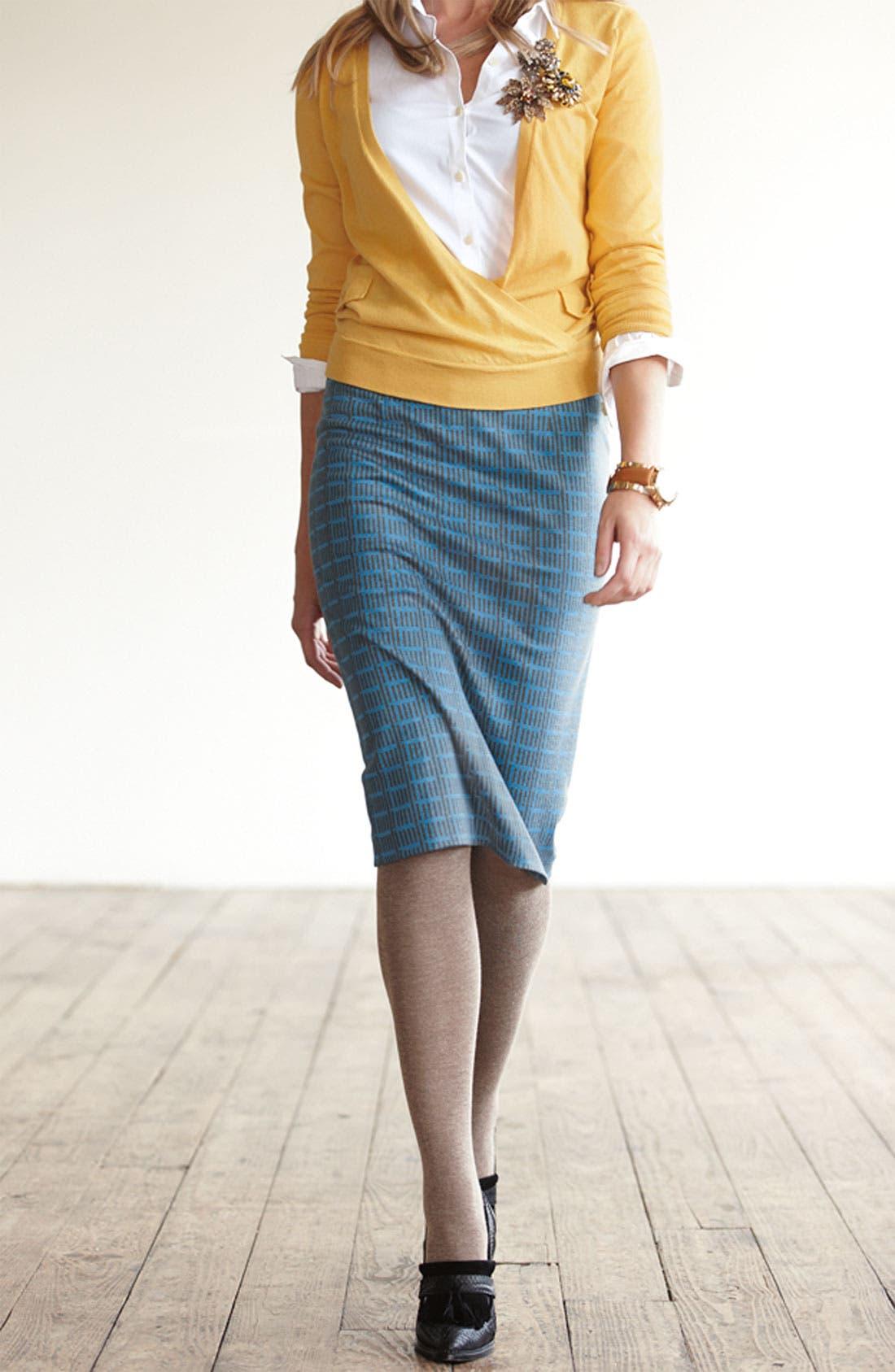 Alternate Image 3  - Halogen® Faux Wrap Sweater