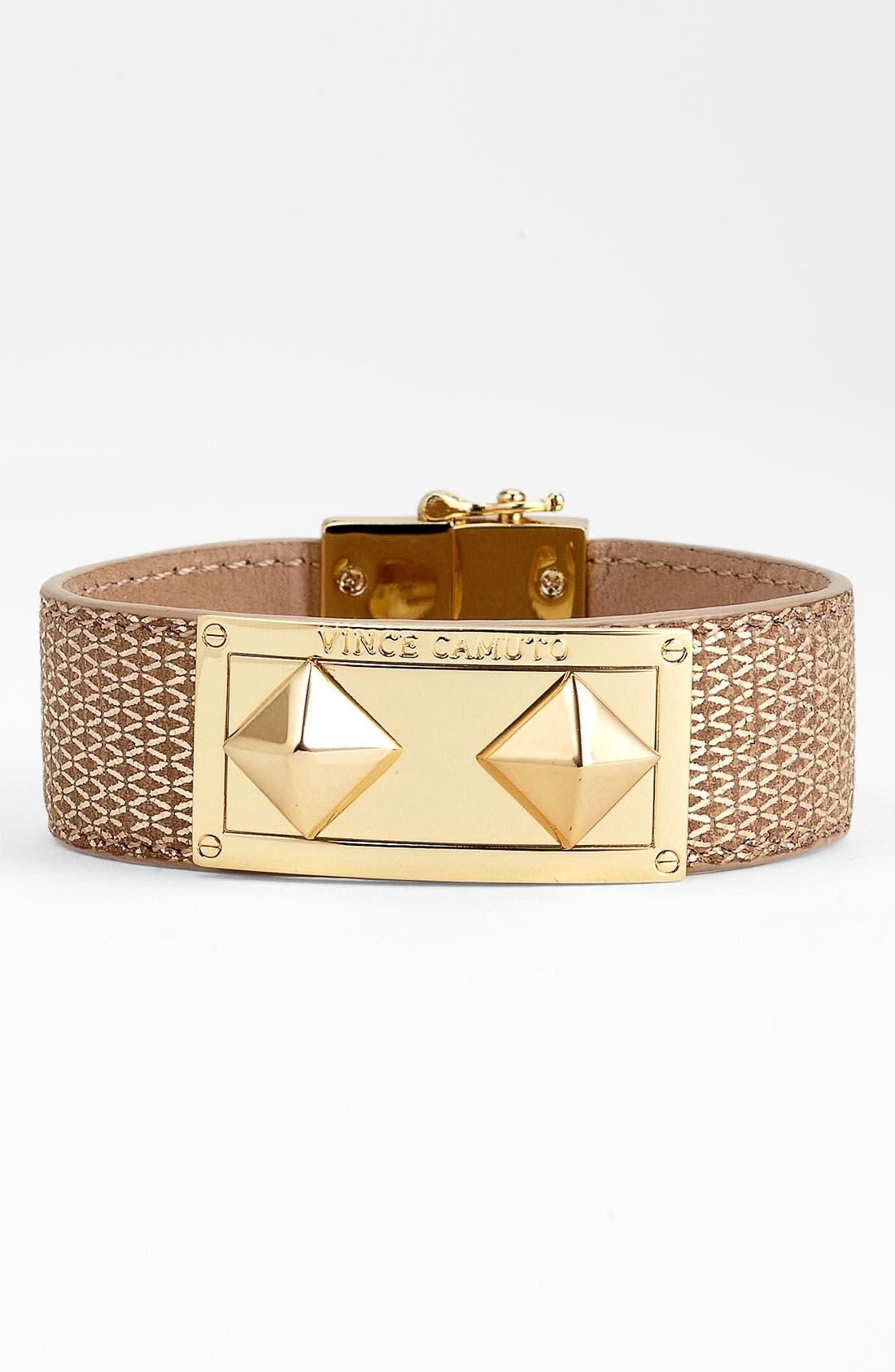 Main Image - Vince Camuto Studded Leather Wrap Bracelet