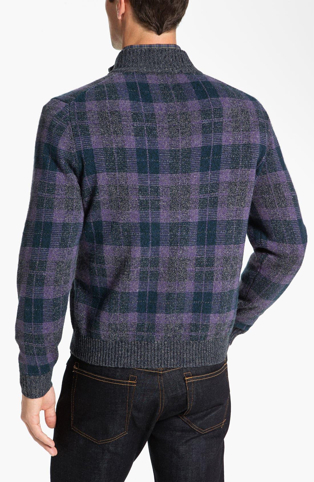 Alternate Image 2  - Robert Talbott Half Zip Sweater