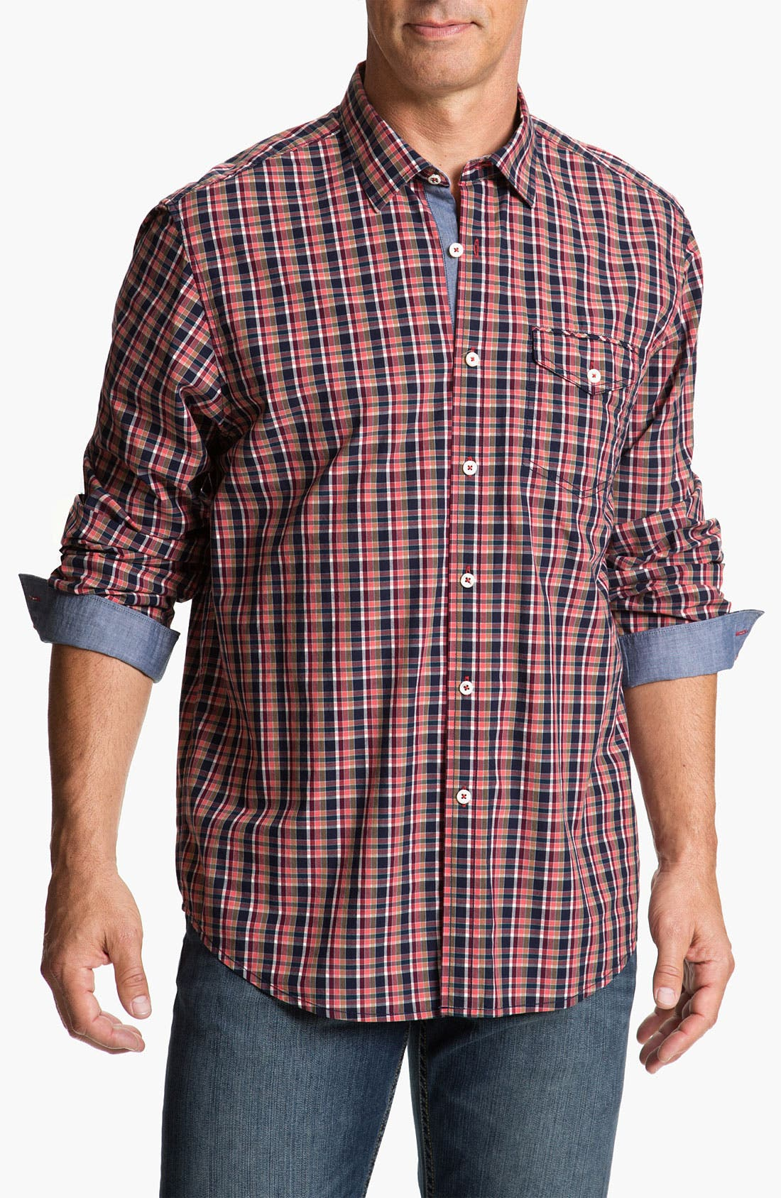 Alternate Image 1 Selected - Tommy Bahama Denim 'Bao Down Plaid' Sport Shirt