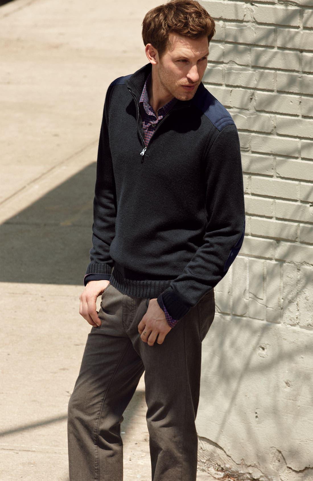 Alternate Image 4  - BOSS Black Quarter Zip Regular Fit Sweater