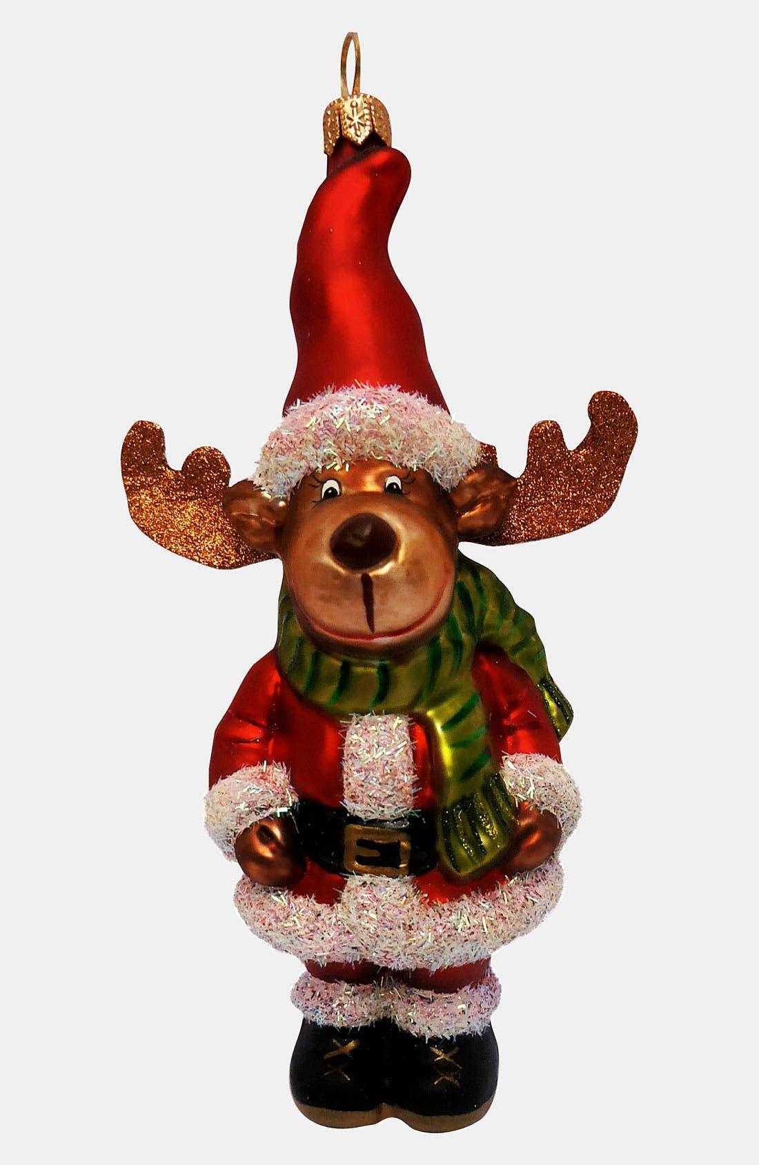 Alternate Image 1 Selected - Nordstrom at Home 'Santa Moose' Ornament