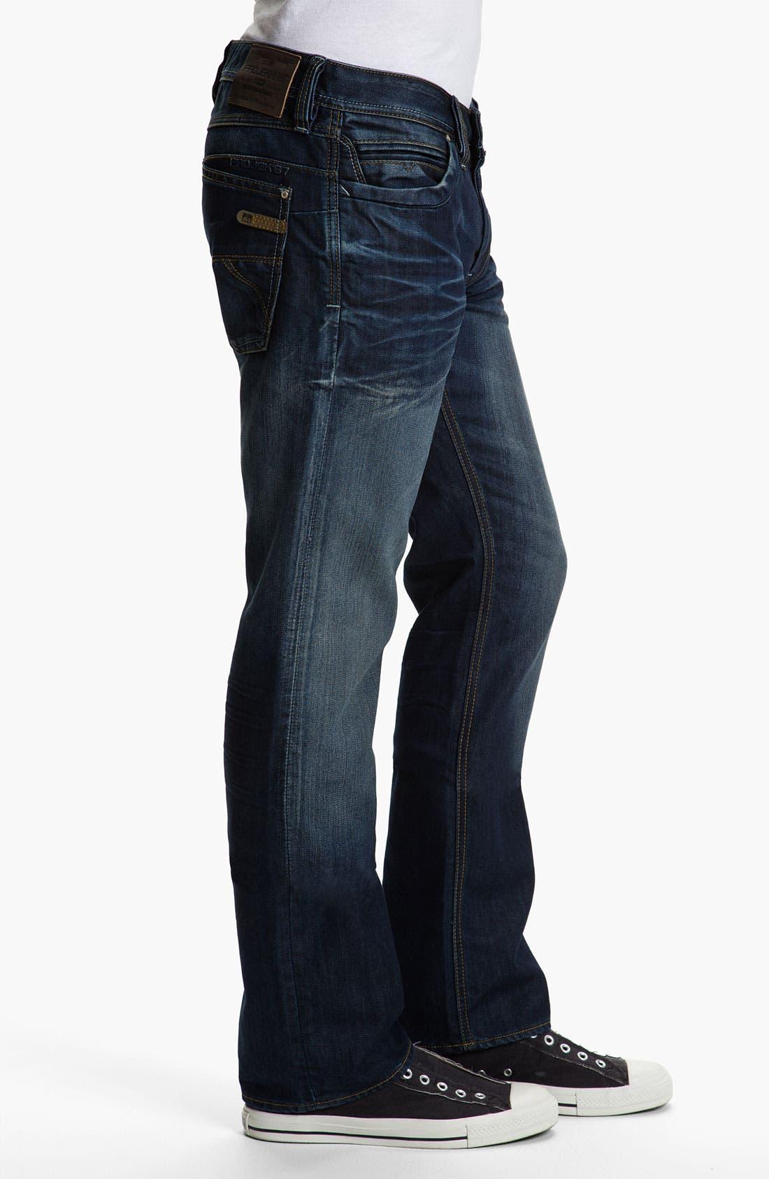 Alternate Image 3  - Projek Raw Relaxed Straight Leg Jeans (Blue)