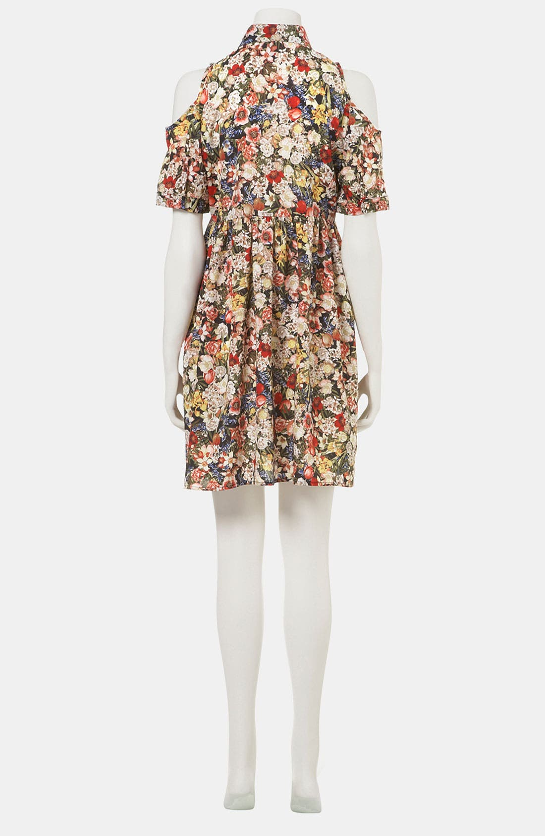 Alternate Image 3  - Topshop Floral Cutout Maternity Shirtdress