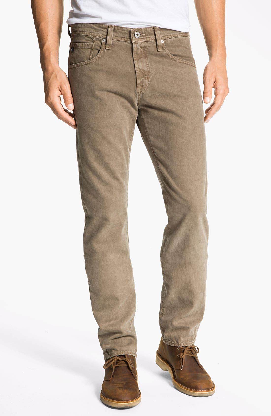 Main Image - AG Jeans 'Matchbox' Slim Straight Leg Jeans (Sulfur Beechwood)