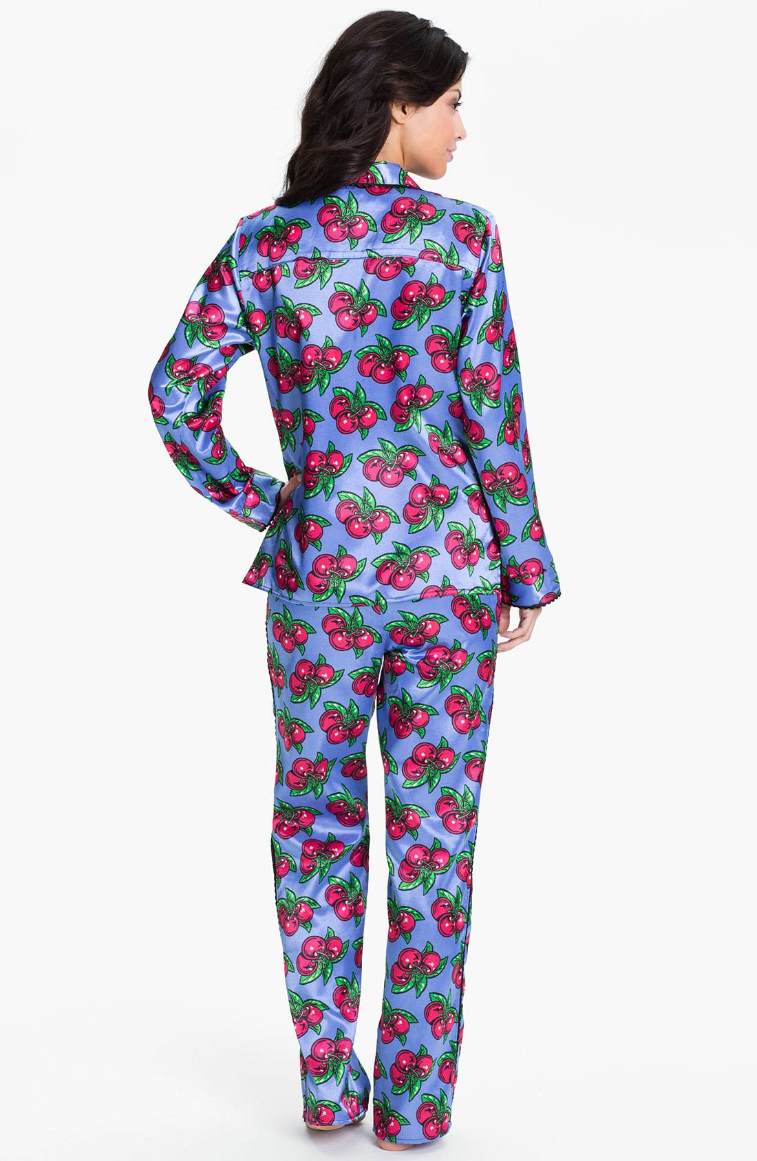 Alternate Image 2  - Betsey Johnson 'Cuddly Back Satin' Pajama Set