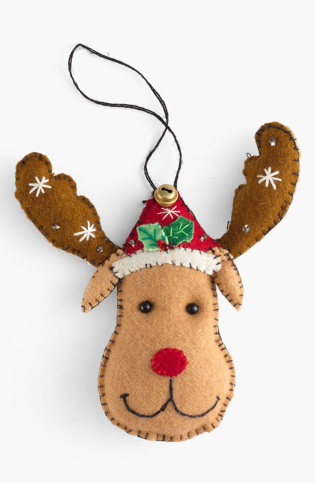 Main Image - New World Arts 'Marvick with Antlers - Puffy' Ornament