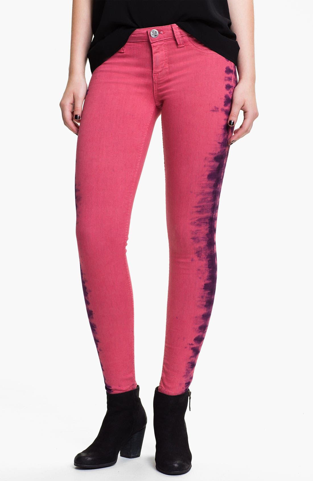 Alternate Image 2  - See Thru Soul Tie Dye Skinny Jeans (Juniors)