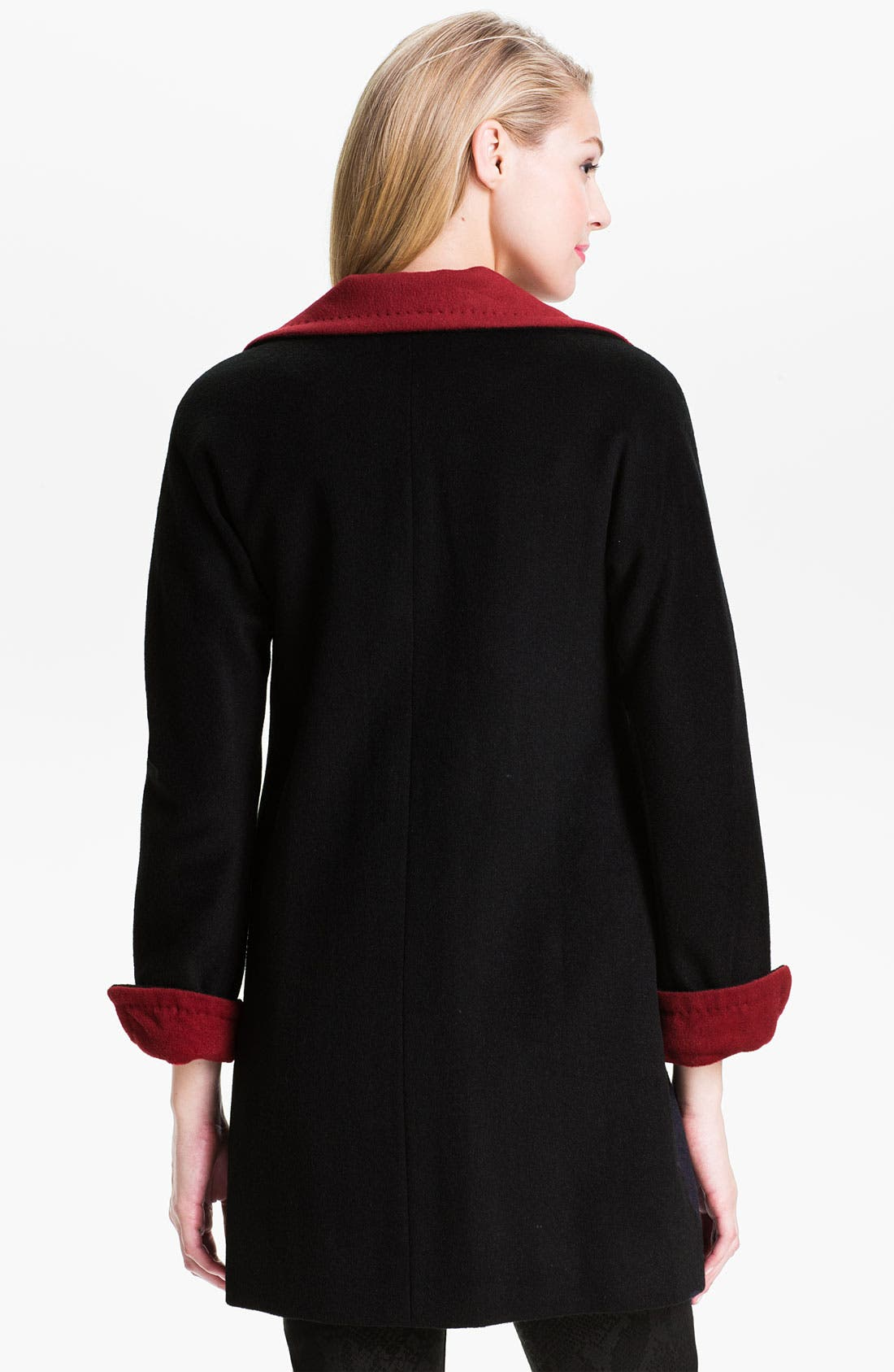 Alternate Image 2  - Ellen Tracy Two Tone Coat (Online Exclusive)