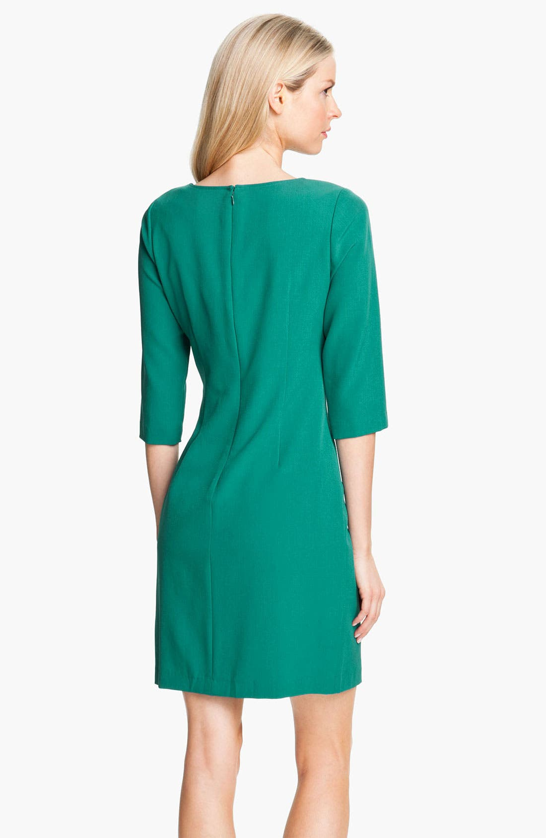 Alternate Image 2  - Adrianna Papell Lace Inset Crepe Dress