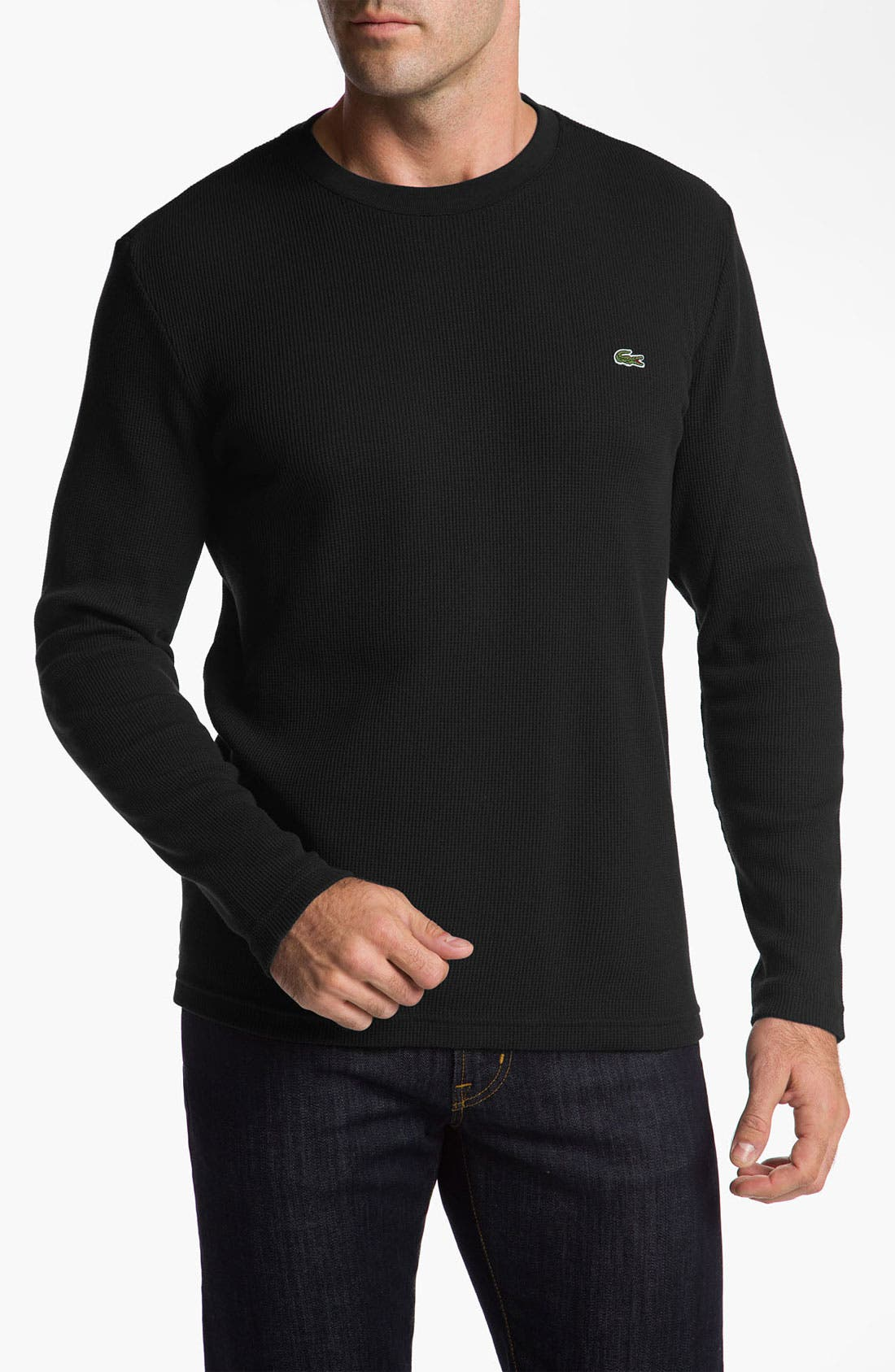 Main Image - Lacoste Crewneck Thermal Top