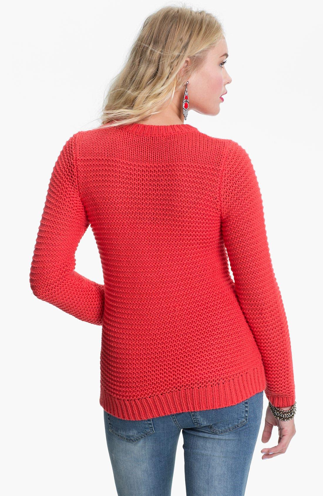 Alternate Image 2  - Rubbish® Chunky Knit Sweater (Juniors)